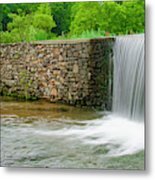 Valley Creek Waterfall Panorama Metal Print