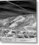 Valley Of Fire Black White Nevada  Metal Print