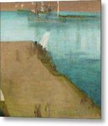 Valparaiso Harbor - Digital Remastered Edition Metal Print