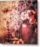 Vase And Flowers Metal Print