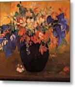 Vase Of Flowers 1896 Metal Print