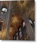 Vaults Of Notre Dame De Paris Before The Fire Of 2019 Metal Print