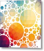 Vector Illustration Of Colorful Metal Print