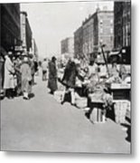 Vegetable Stands In Harlem Metal Print