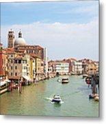 Venice Grand Canal Scene, Veneto Italy Metal Print