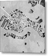 Venice Italy City Map Metal Print