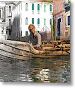 Venice Pause In The Evening Metal Print
