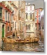 Venice The Little Yellow Duck Metal Print