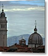 Venice Tower And Dome Metal Print