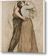 Victor Emile Prouve  French  1858   1943 The Kiss  Le Baiser  1898  Collotype On Wove Paper Metal Print