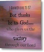 Victorious Verses 1 15 57 Metal Print