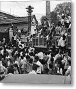 Vietnamese Civilians Crowding In Front Metal Print
