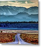 View From A Windy Road Metal Print