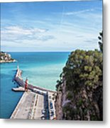 View From Castle Hill To The Sea In Nice Metal Print