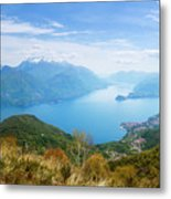 View From Rifugio Menaggio Lake Como Italy Metal Print