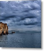 View Of Castel Dell Ovo  Metal Print