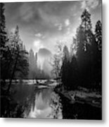 View Of Half Dome II Metal Print