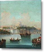 View Of Istanbul - 1 Metal Print