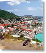 View Of Marigot Bay From St. Louis Metal Print