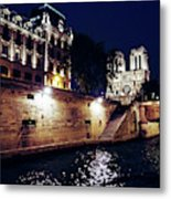 View Of Notre Dame From The Sienne River In Paris, France Metal Print