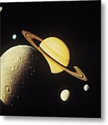 View Of Planets In The Solar System Metal Print