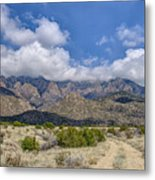 View Of Sandia Mountain Metal Print