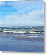 View Of The Texas Gulf Metal Print