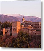 View To The Alhambra At Sunset Metal Print