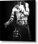 Views Of Michael Jackson Concert During Metal Print