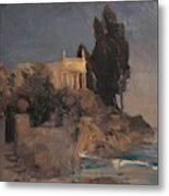 Villa By The Sea Metal Print