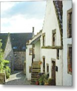 village cobbled lane in Culross Metal Print