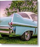 Vintage Blue Caddy American Vintage Car Metal Print