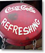 Vintage Coca Cola Sign Asia Metal Print
