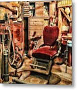 Vintage Dentist Office And Drill Metal Print