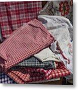 Vintage French Textiles Metal Print