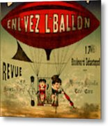 Vintage Hot Air Balloon Metal Print