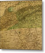Vintage Map Of North Africa Including Morocco Algeria And Tunisia 1901 Metal Print