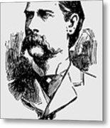 Vintage Newspaper Wyatt Earp Portrait 1896 - T-shirt Metal Print