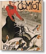 Vintage Poster - Motocycles Comiot Metal Print