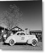 Vintage Race Car Gold King Mine Ghost Town Metal Print