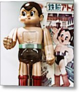 Vintage Robot Astro Boy Metal Print