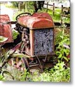 Vintage Rusted Tractor Metal Print
