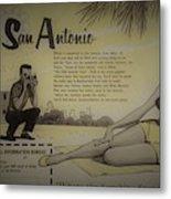 Vintage San Antonio Advertisement Metal Print