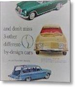 Vintage Studebaker Advertisement Metal Print