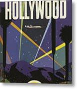 Vintage Travel Poster - Hollywood Metal Print