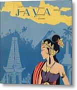 Vintage Travel Poster - Java Metal Print