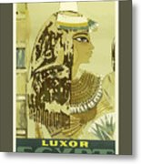 Vintage Travel Poster - Luxor, Egypt Metal Print