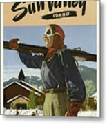 Vintage Travel Poster - Sun Valley, Idaho Metal Print
