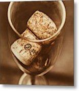 Vintage Vino Metal Print