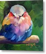 Violet Breasted Roller Bird Metal Print